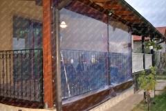 Inchidere terasa, detaliu cu folia cristal