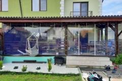 Lucrare reprezentativa terasa cu PVC transparent