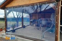 Foisor in gradina cu protectie PVC transparent